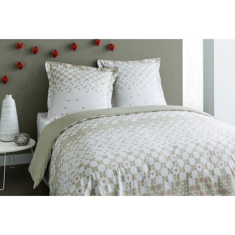 parure housse de couette 260x240 2 to 65x65 petal gris. Black Bedroom Furniture Sets. Home Design Ideas