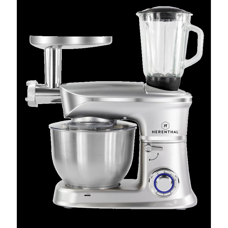 Robot p trin multifonctions 3en1 1200w herenthal ht for Robot de cuisine petrin